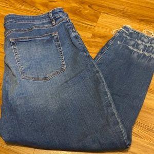 Loft Curvy Skinny Crop Jeans Size 18